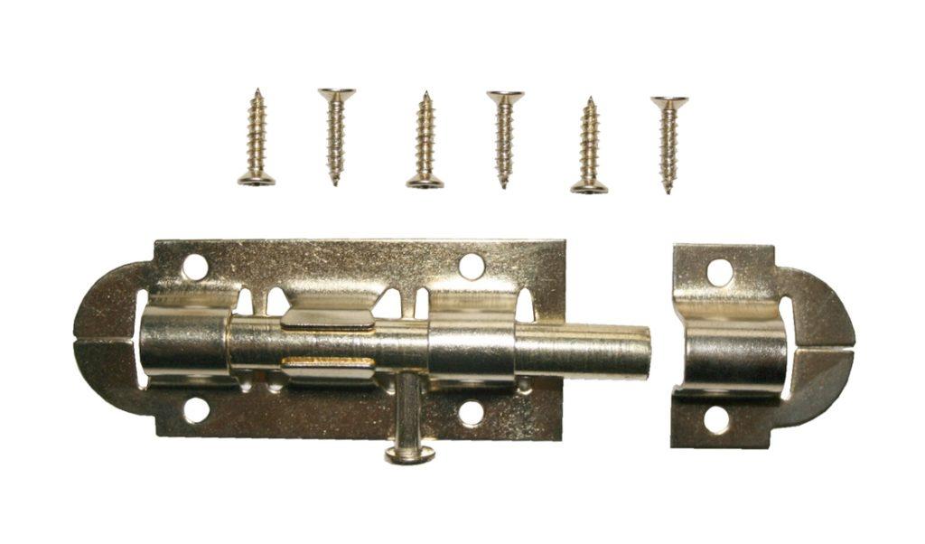 Türriegel Schloßriegel Bolzenriegel Riegel 100x30mm Metall (0021)