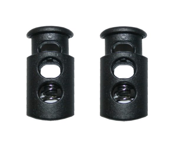 Kordelstopper Kordelklemme 1 Loch schwarz 2 Stück (0141)