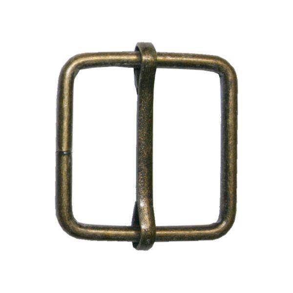 Gurterschieber mit Steg Gurt Verschieber 25x26 mm altmessing (0155)