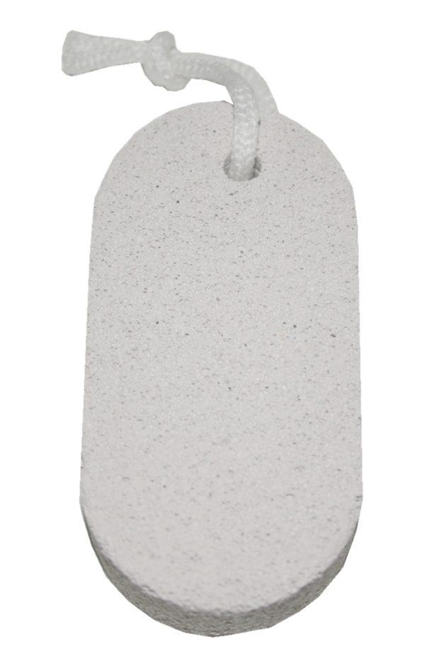 Bimsstein Massagestein Hornhautentfernung Fussmassage Fußpflege Oval Grau (0015)