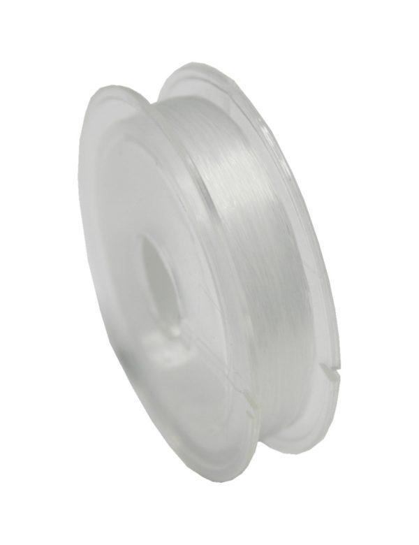 Nylondraht Nylonfaden elastisch transparent 0,7mm 5m (0053)