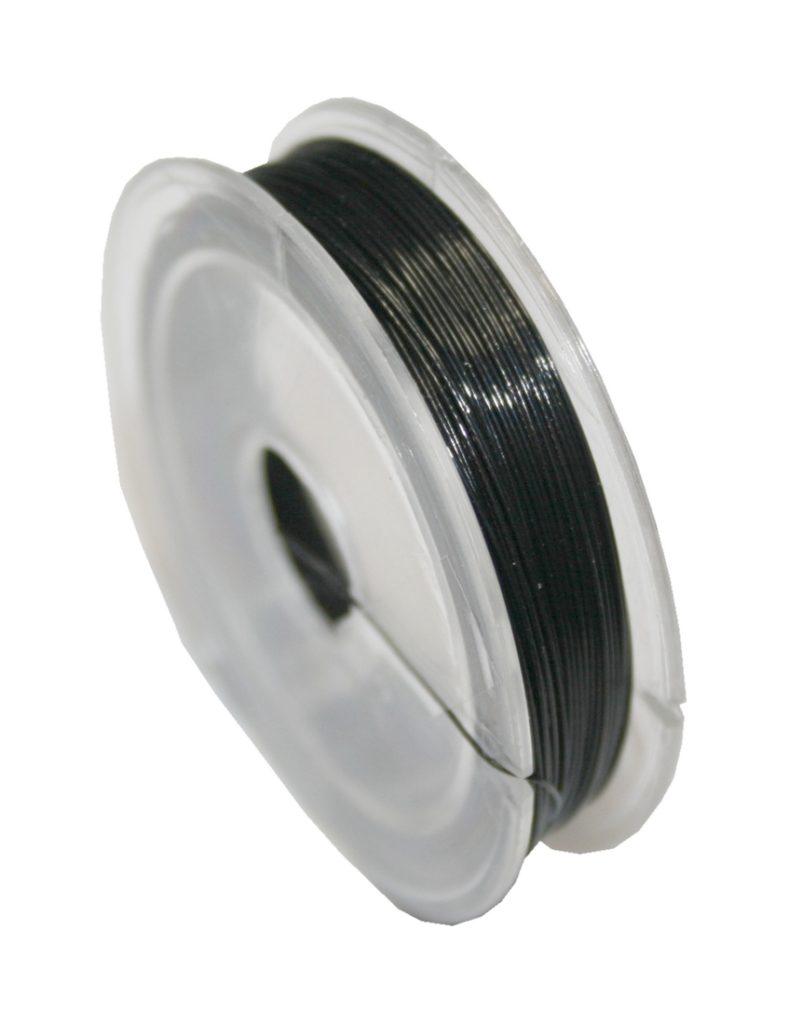 Nylondraht Nylonfaden elastisch schwarz 0,7mm 5m (0054)