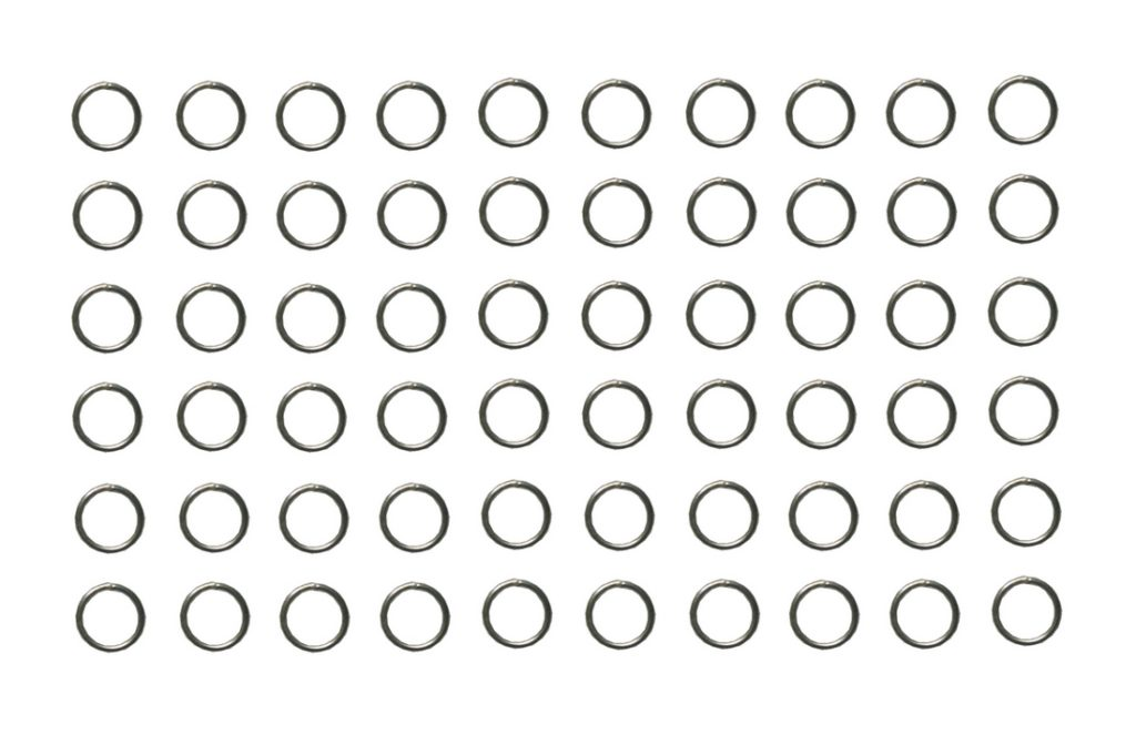 Verbindungsring Biegering 0,6mm silberfarben 60 Stück (0061)