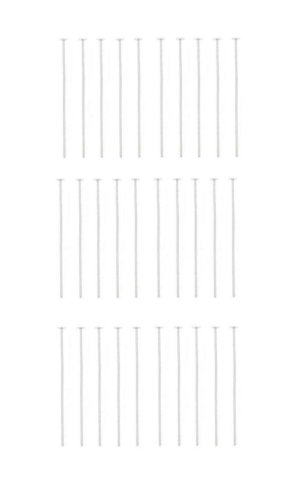 Kettelstift Schmuckstift 30mm silberfarben 30 Stück (0064)