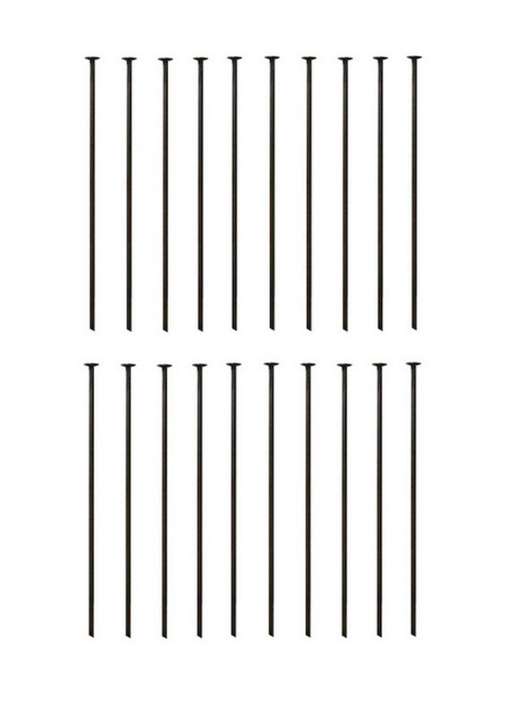 Kettelstift Schmuckstift 45mm bronzefarben 30 Stück (0065)