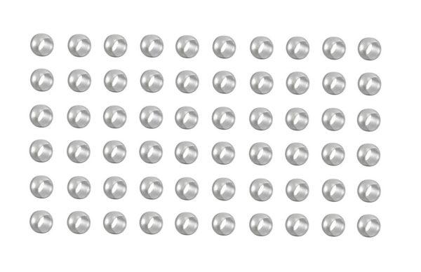 Quetschperlen Schmuckperlen 2,0mm silberfarben 60 Stück (0066)