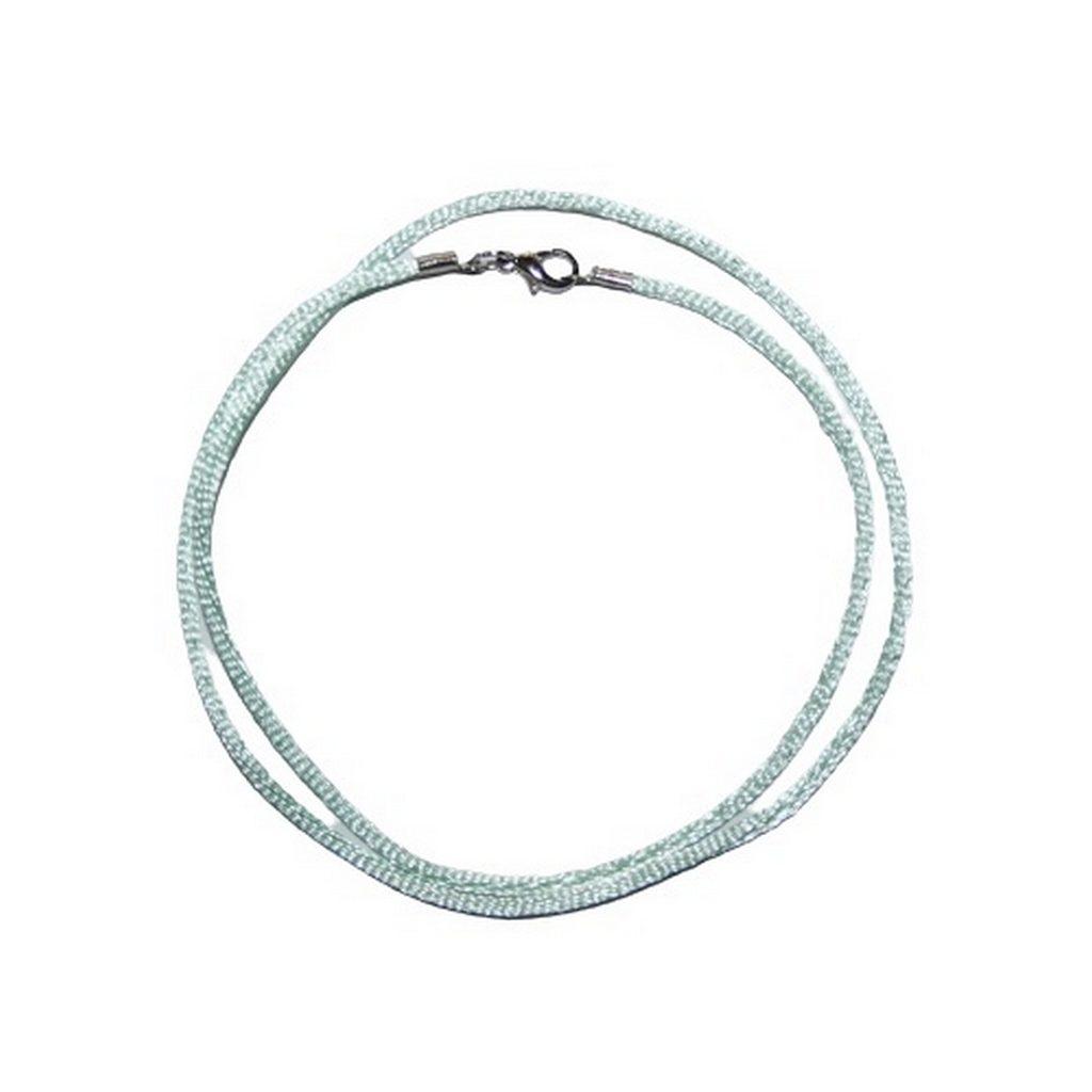 Halskette Kette Satin mint grün (0076)