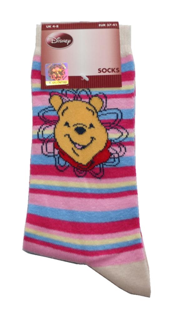 Damen Socken Walt Disney 37 / 41 Pu der Bär (0013)