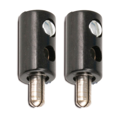 Zwergstecker HO-Stecker Querlochstecker 2,6 mm schwarz 2 Stück (0876)