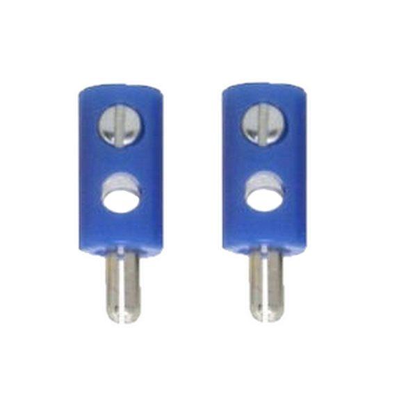 Zwergstecker HO-Stecker Querlochstecker 2,6 mm blau 2 Stück (0880)