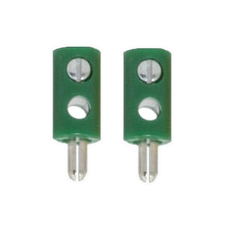 Zwergstecker HO-Stecker Querlochstecker 2,6 mm grün 2 Stück (0881)