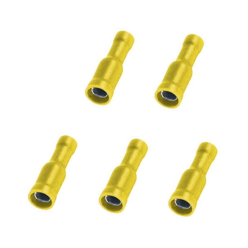 Rundsteckhülse Rundstecker Stecker 4mm 4mm2 gelb 5 Stück (0209)