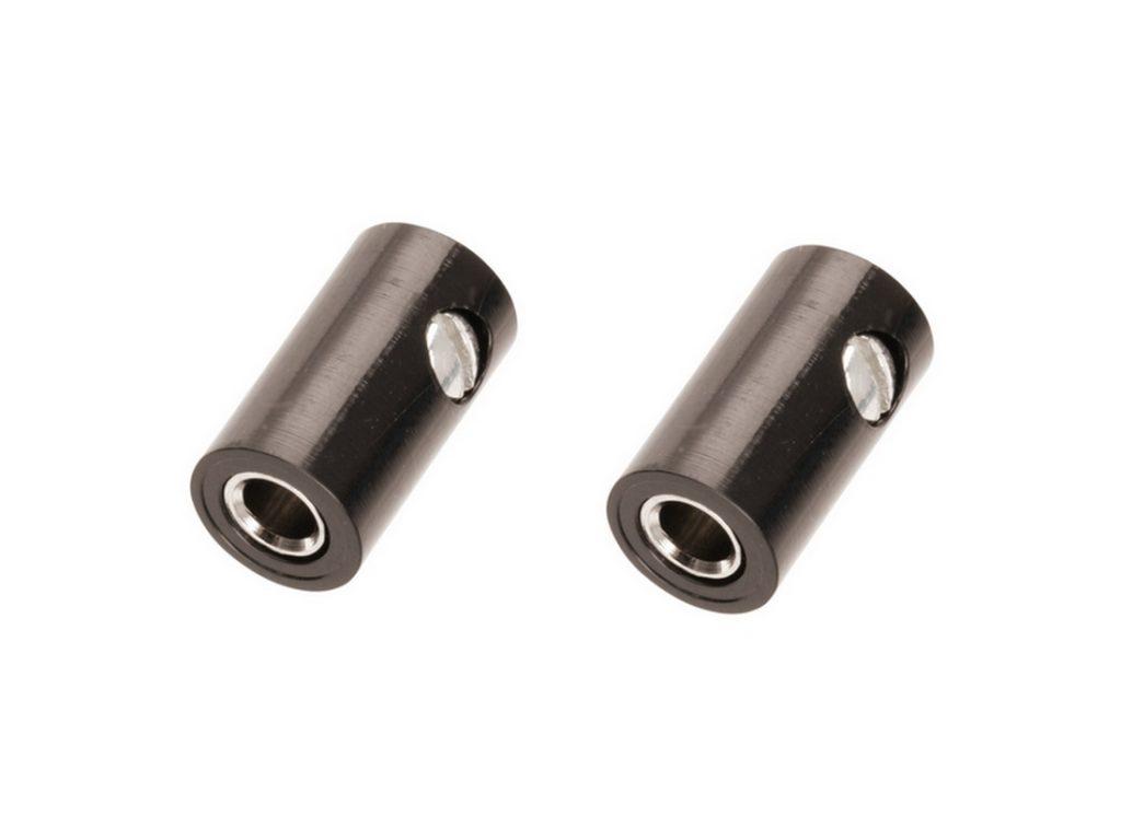 Zwergkupplung HO-Kupplung ø 2,6 mm Schraubanschluss schwarz 2 Stück (0014)