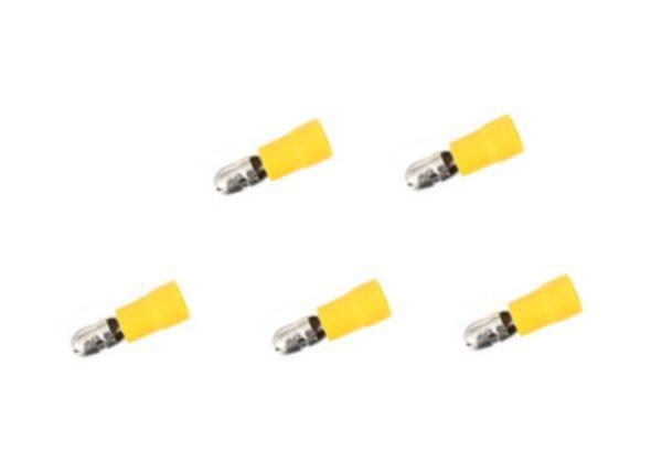 Rundstecker Stecker 4mm 4mm2 gelb 5 Stück (0218)