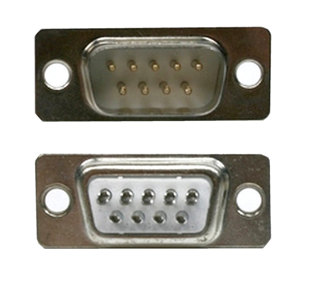 D-Sub Stecker 9 polig männlich Lötanschluss 2 Stück (0221)