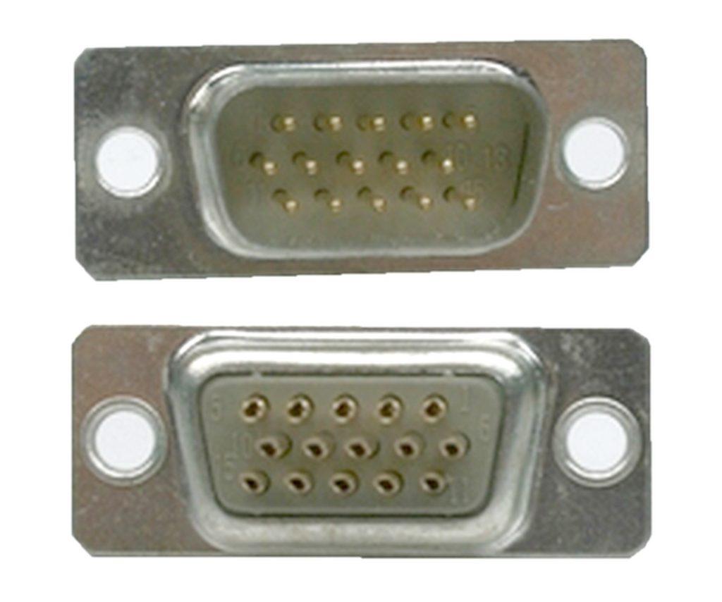 D-Sub Stecker 15 polig männlich Lötanschluss (0224)