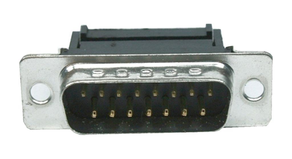 D-Sub Stecker 15 polig männlich für Flachkabel (0226)