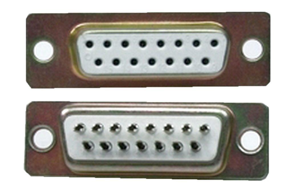 D-Sub Stecker 15 polig weiblich Lötanschluss (0228)