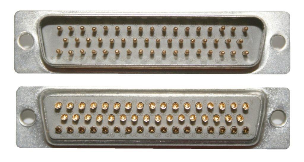D-Sub Stecker 50 polig männlich Lötanschluss (0237)