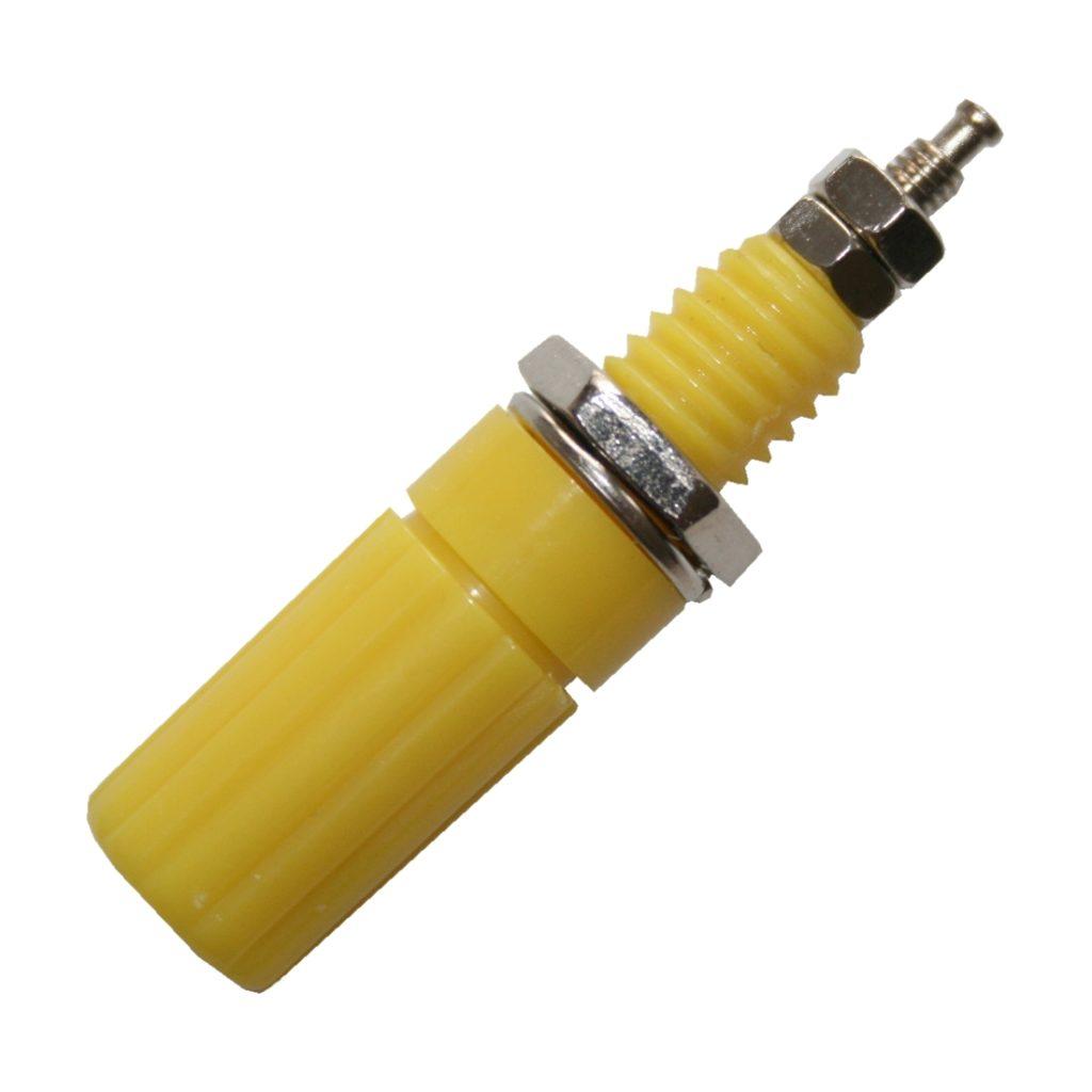 Laborbuchse Bananenbuchse Buchse 4mm Einbau gelb (0272)