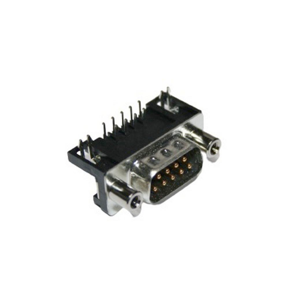 D-Sub Stecker 9 polig 90° zweireihig Stecker Printmontage (0351)