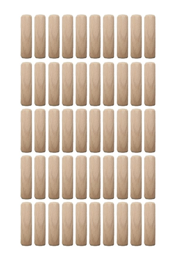 Holzdübel Riffeldübel Holzverbinder FSC® 8x25mm 50 Stück (0002)