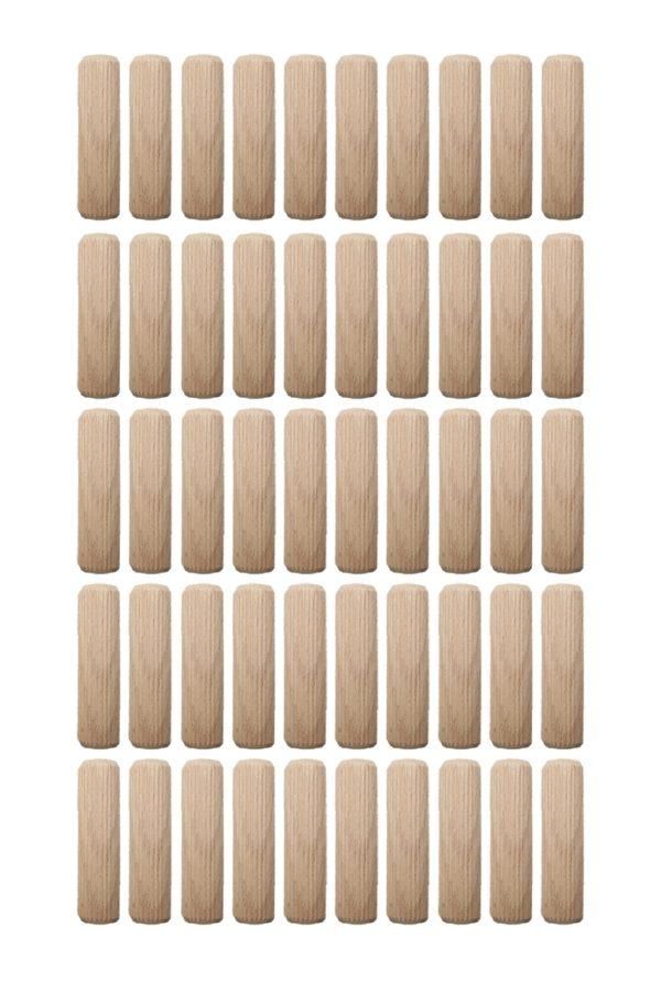 Holzdübel Riffeldübel Holzverbinder FSC® 8x50mm 50 Stück (0006)