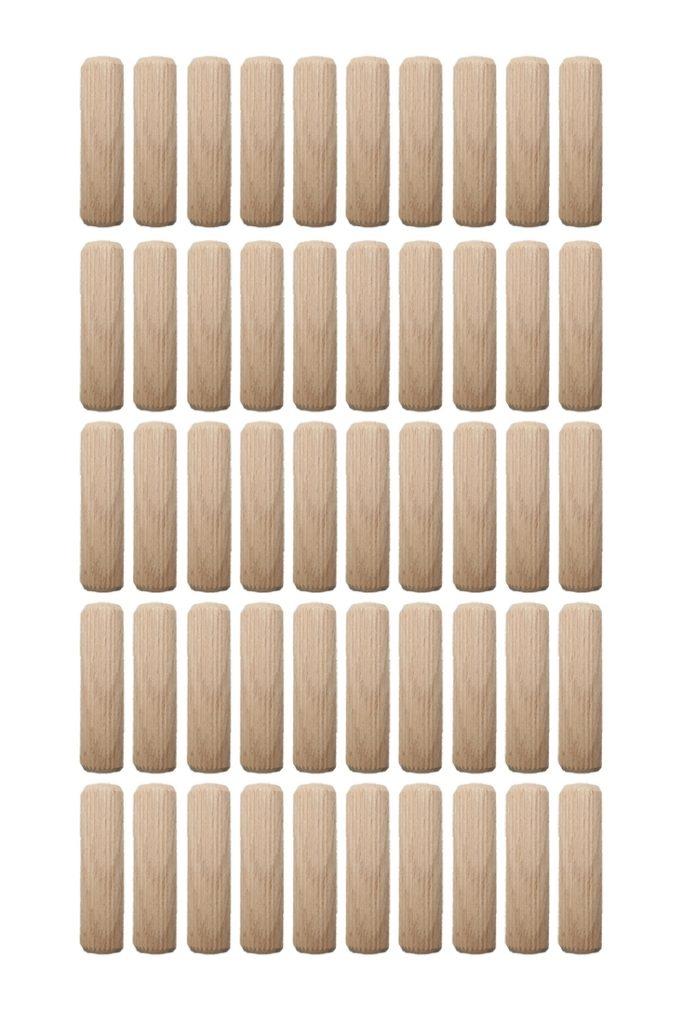 Holzdübel Riffeldübel Holzverbinder FSC® 10x50mm 50 Stück (0009)