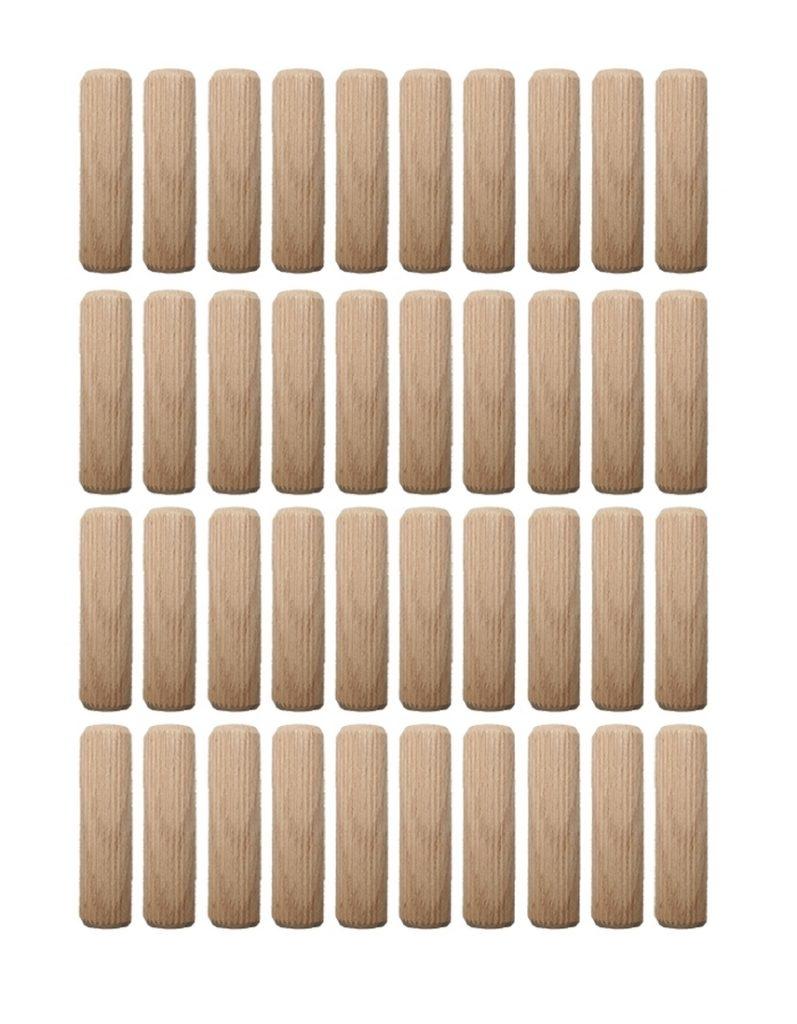 Holzdübel Riffeldübel Holzverbinder FSC® 12x40mm 40 Stück (0013)