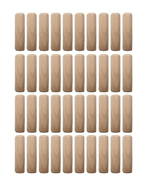 Holzdübel Riffeldübel Holzverbinder FSC® 12x50mm 40 Stück (0014)