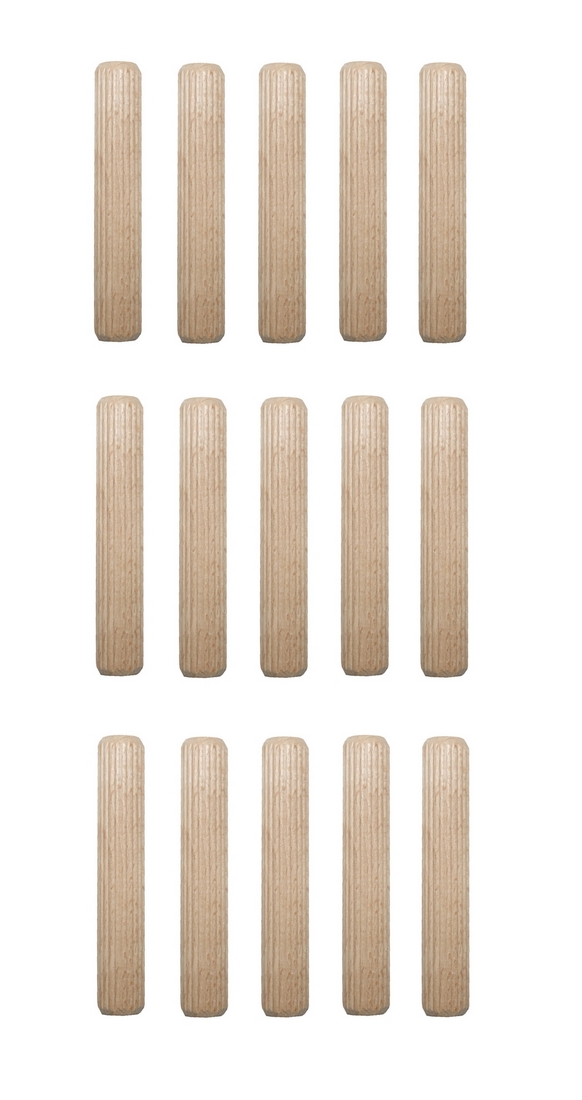 Holzdübel Riffeldübel Holzverbinder FSC® 16x60mm 15 Stück (0024)