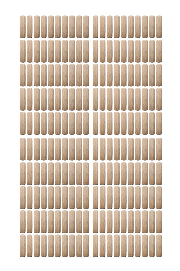 Holzdübel Riffeldübel Holzverbinder FSC® 8x25mm 200 Stück (0037)
