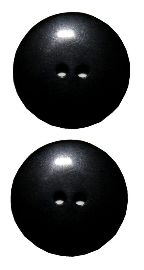 Knopf 23 mm 2 Loch schwarz glänzend 2 Stück (0048)