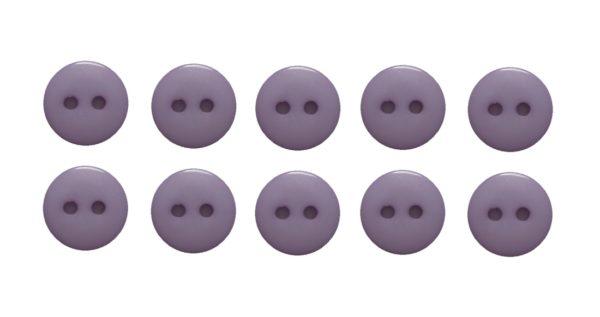 Knopf Knöpfe 10mm 2 loch lila 10 Stück (0077)