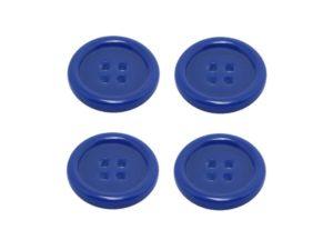 Knopf Knöpfe 25mm 4 loch blau 4 Stück (0120)