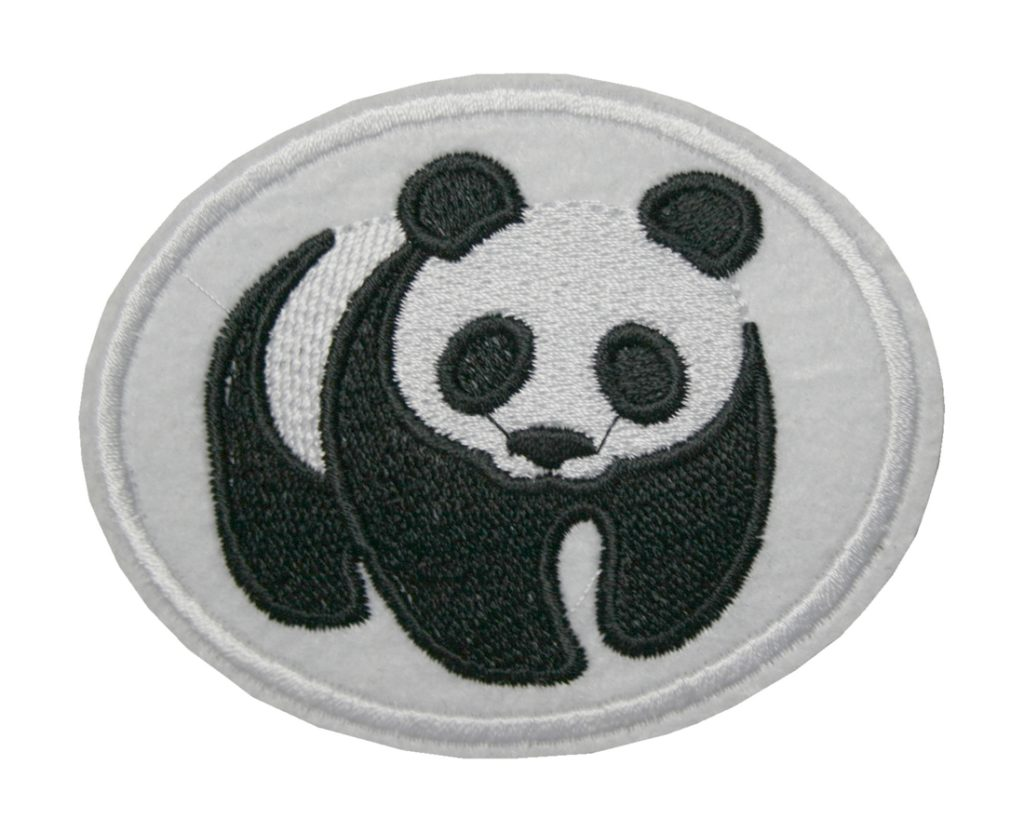 Aufnäher Bügelbild Aufbügler Panda 85x70mm (1010)
