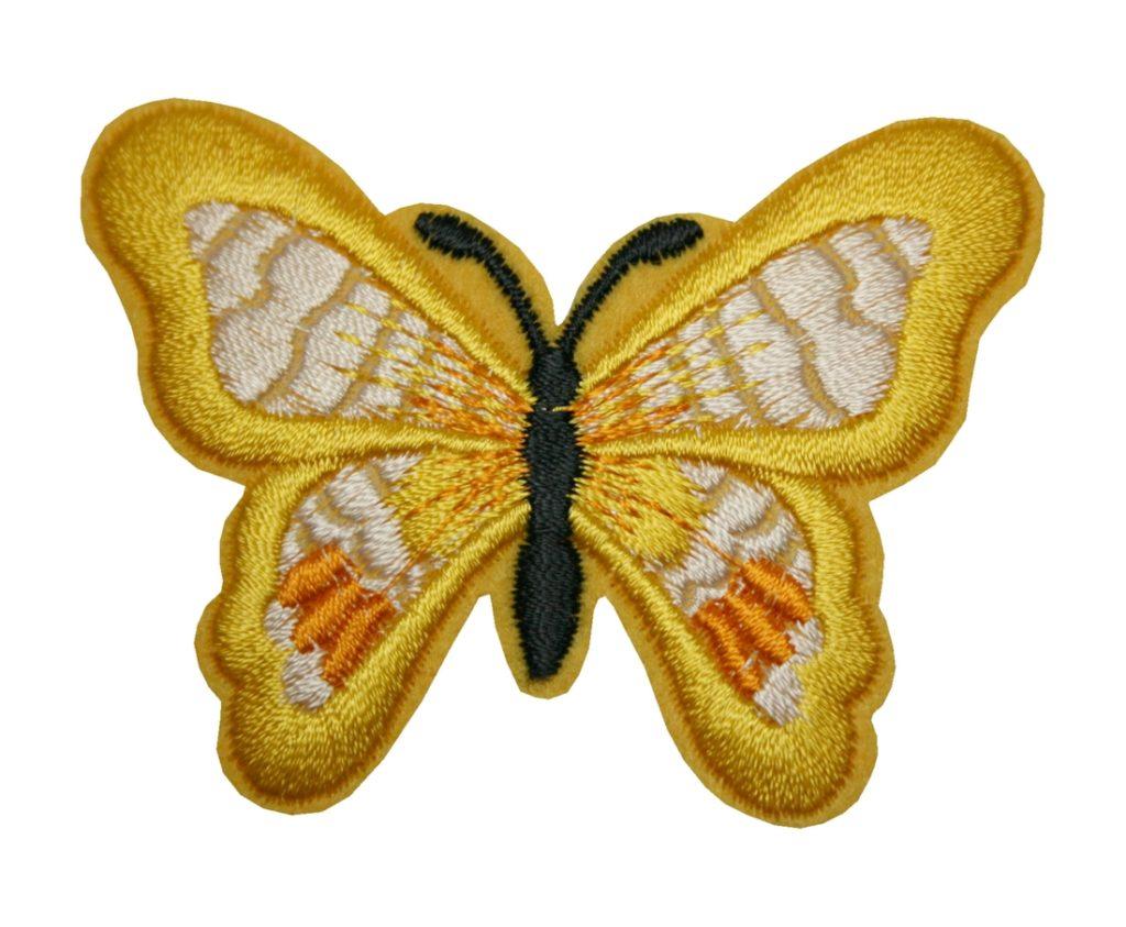 Aufnäher Bügelbild Aufbügler Schmetterling 70x50mm (1020)