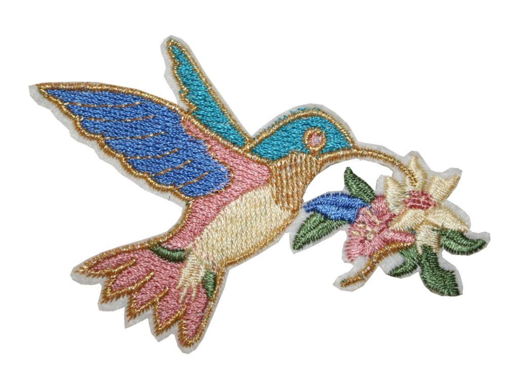 Aufnäher Bügelbild Aufbügler Vogel 85x50mm (1021)