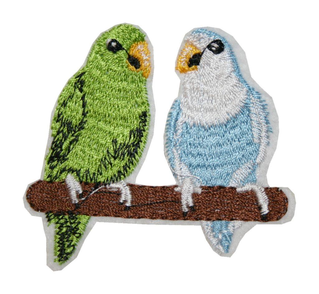 Aufnäher Bügelbild Aufbügler Papagei Vogel 70x65mm (1036)