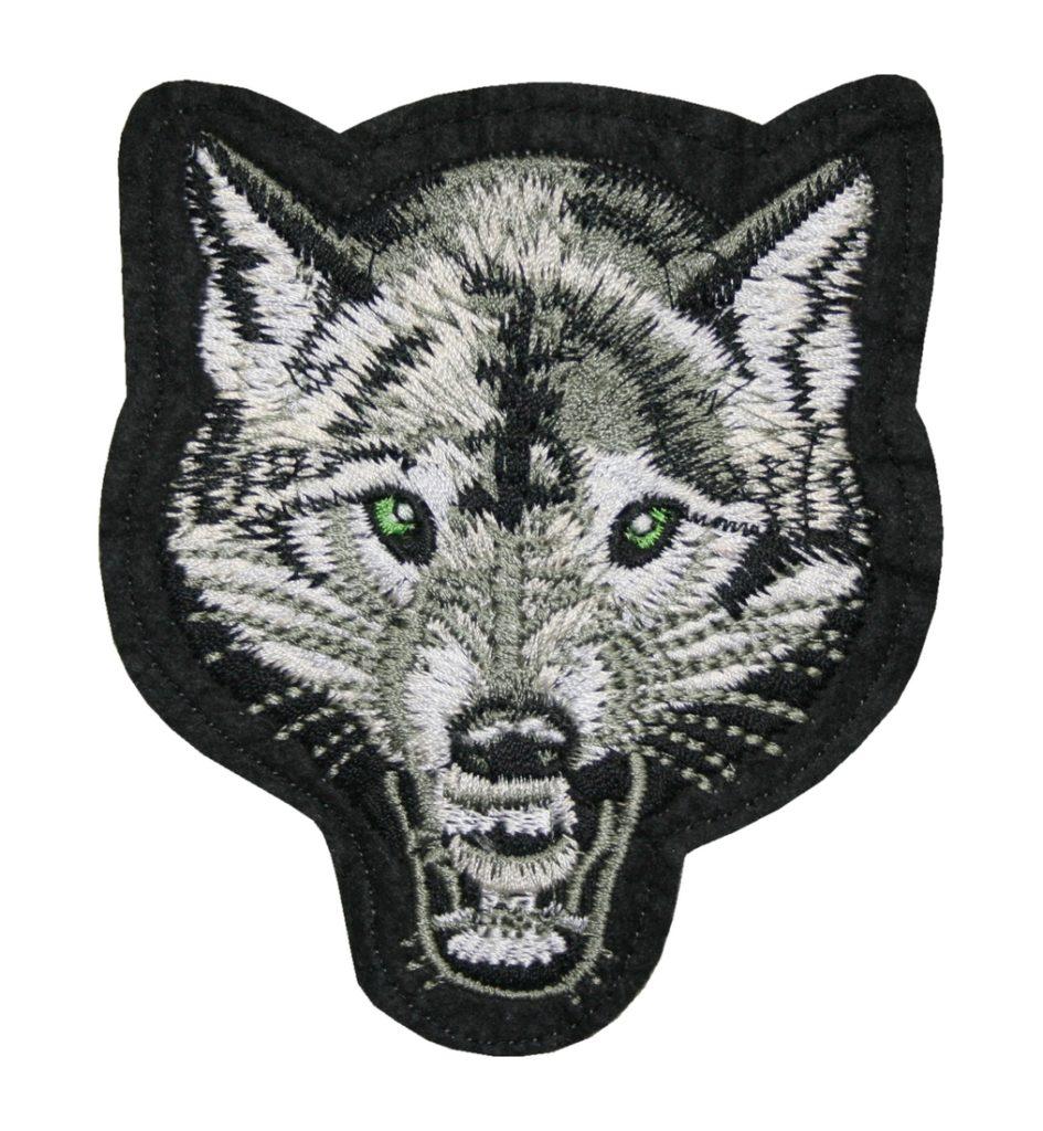 Aufnäher Bügelbild Aufbügler Wolf 110x95mm (1068)