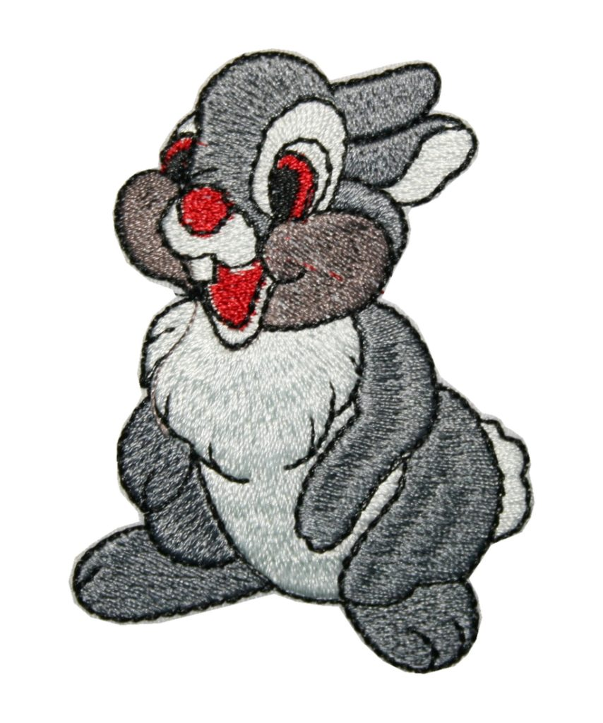 Aufnäher Bügelbild Aufbügler Kaninchen Hase 75x55mm (1069)