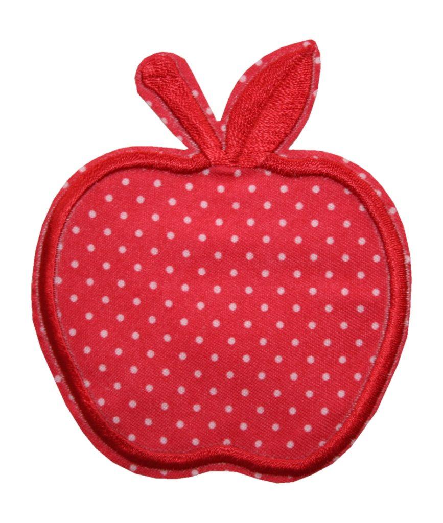 Aufnäher Bügelbild Aufbügler Apfel rot 75x90mm (1076)