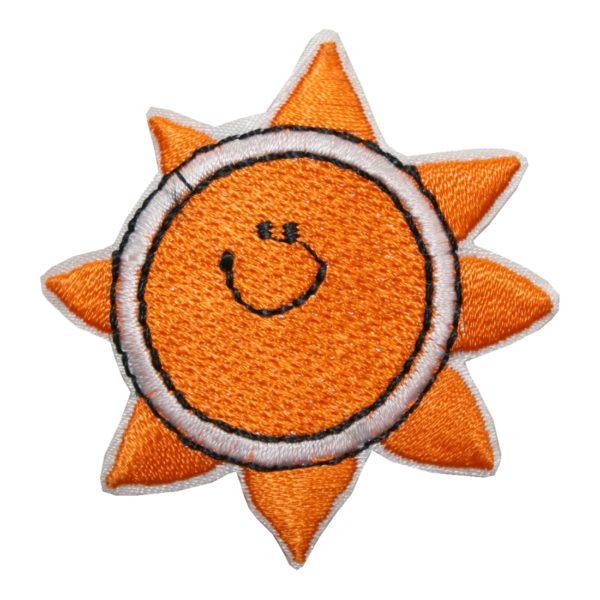 Aufnäher Bügelbild Aufbügler Sonne 50x50 mm (1101)