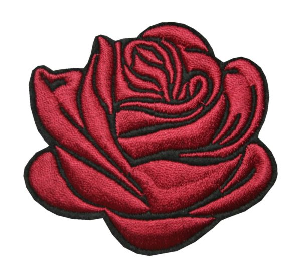 Aufnäher Bügelbild Aufbügler Rose 80x70 mm (1106)