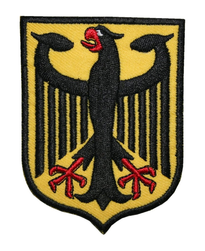 Aufnäher Bügelbild Aufbügler Adler Bundesadler Deutschland 90x75mm (1113)