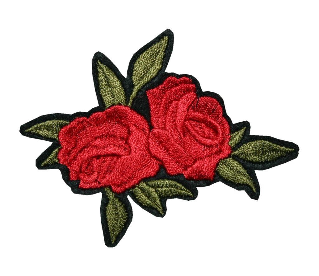 Aufnäher Bügelbild Aufbügler Rose rot 70x80mm (1135)