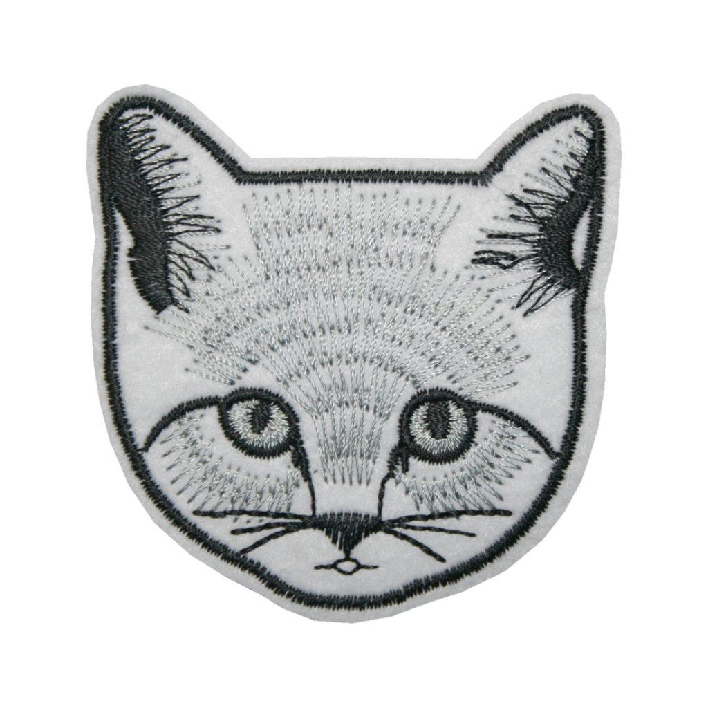 Aufnäher Bügelbild Aufbügler Katze 70x70 mm (1144)