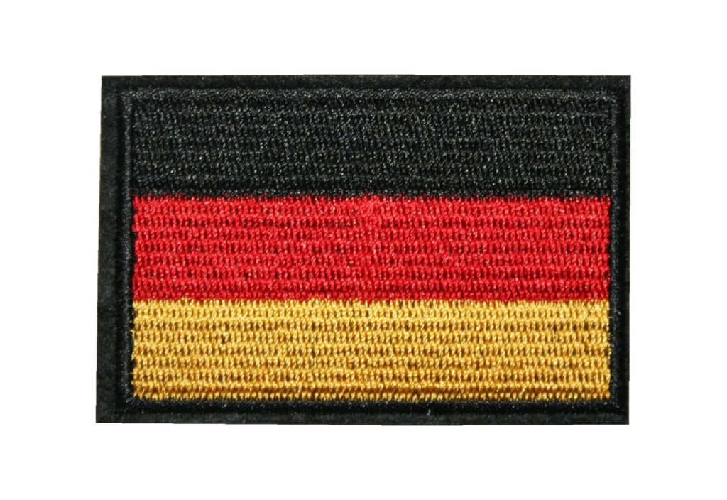 Aufnäher Bügelbild Aufbügler Deutsche Flagge 77x50 mm (1146)