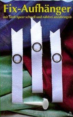 Fix Aufhänger mit Druckknöpfen rostfrei weiß (9033)