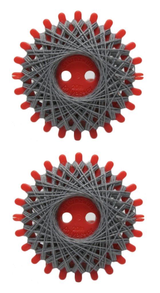 Sternzwirn Polyester 20/3 20m silbergrau 2 Stück (1005)